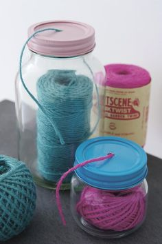 @ Woman's Weekly : How to make a twine dispenser jar