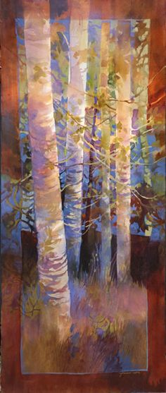 landscape 10 - medium: watercolor Jeanne Larson