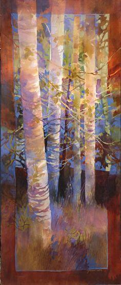 landscape 10 - medium: watercolor by Jeanne Larson