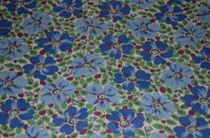Vintage Feed sack blue floral by vintagefarmhousechic on Etsy