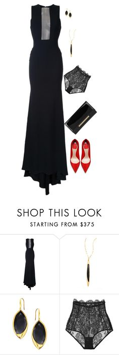 """""""Sem título #580"""" by danigabateli ❤ liked on Polyvore featuring Alex Perry, Lana, I.D. SARRIERI and Jimmy Choo"""
