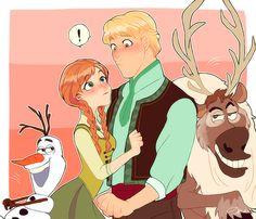 #Frozen #Kristoff #Anna #Olaf #Sven