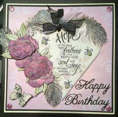 2 in 1 card and keepsake. Really enjoyed making this. Inspired by Marianne Lait using Stampendous Stamps.