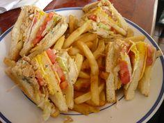 Emparedado de Pavo con Papas Fritas / TURKEY SANDWICH WITH SALAD AND EGGS, FRENCH FRIES, Ruben Cafe in Isla Verde Puerto Rico