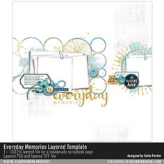 Everyday Memories Layered Template- Katie Pertiet - PSE/PS Templates- LT577932- DesignerDigitals