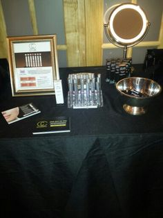 City Lips table at the 2014 Pre-Oscars Gifting Suite in Beverly Hills, CA
