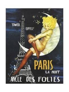 Paris Moon Giclee Print at AllPosters.com