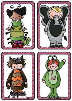 Kostüme 3 _Verkleidungen im Fasching/ Karneval bzw. zu Halloween_ Bildkarten (A6) Carnival Activities, Theme Carnaval, Clown Crafts, Dragons, Es Der Clown, Cicely Mary Barker, Party Box, Free Frames, Preschool Math