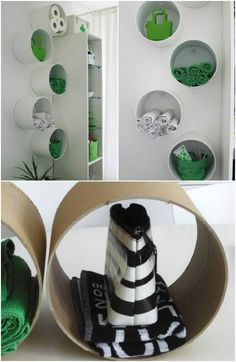 Good idea for storing things in any room, like the idea that they're round, not the traditional square.