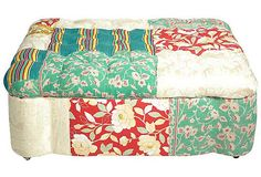 Oversized Quilt Ottoman II....  oh how I would love to have this!!!