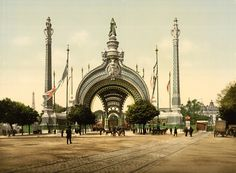 René Binet (French, 1866-1911)  Exposition Universelle of 1900, Paris: The Triumphal Gateway of the Place de la Concord  Binet took inspirat...