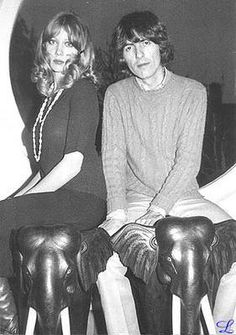 Pattie & George (photo by Ringo Starr) source: Beatles Wives & Girlfriends Facebook Page