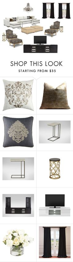 """Zhao - Formal Living Room"" by nancy-suzette on Polyvore featuring interior, interiors, interior design, home, home decor, interior decorating, Pier 1 Imports, Waterford, Ethan Allen and EFF"