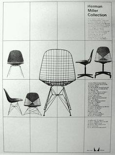 Herman Miller ad - I really like the layout with the grid :) Herman Miller, Furniture Ads, Vintage Furniture, Furniture Design, Plywood Furniture, Office Furniture, Painted Furniture, Modern Furniture, Furniture Websites