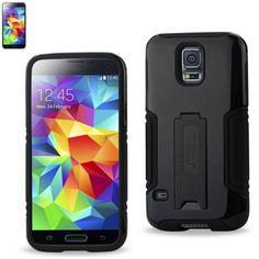 Reiko Hybrid Case With Kickstand Samsung Galaxy S5 Black