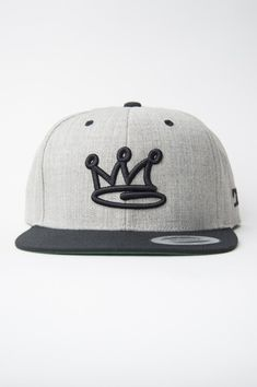 3289bc5e75d52 Crown Heather Grey Snapback Hat by Devious Elements Apparel