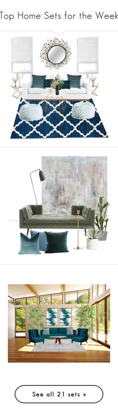 """""""Top Home Sets for the Week"""" by polyvore ❤ liked on Polyvore featuring interior, interiors, interior design, home, home decor, interior decorating, WALL, LSA International, West Elm and Abigail Ahern"""