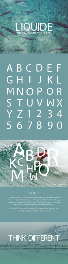 Free Liquide Typeface is a new font combining the voice of art deco with updated, clean letterforms. Free for personal & commercial use.  via @creativetacos