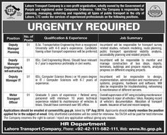 Urgent Jobs Opportunities In Lahore Transport Company Punjab For ‪#‎jobs‬ detail and how to apply:  http://www.dailypaperpk.com/jobs/252087/urgently-required-lahore-transport-company