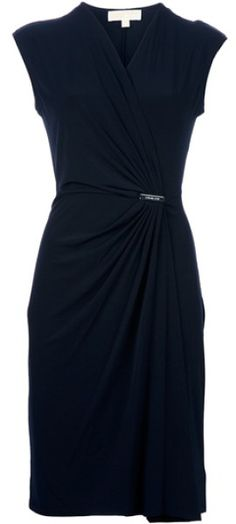 Michael By Michael Kors Black Fitted Dress
