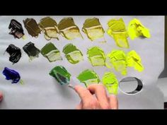 How to mix green acrylic paint - YouTube