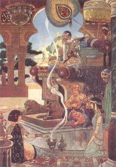 Rene Bull - Illustrations from Rubaiyat of Omar Khayyam 1913 Art And Illustration, Ink Illustrations, Rubaiyat Of Omar Khayyam, Persian Poetry, Vintage Fairies, Botanical Drawings, Arabian Nights, Art Plastique, Lovers Art