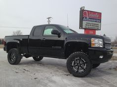 Silverado with lift with BMF Wheels. Custom Wheels And Tires, All Terrain Tyres, Monster Trucks