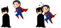 Batman + Superman chibis by ~Mikiku on deviantART