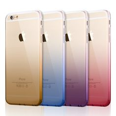 Super Slim Gradient TPU Case for iPhone 6 6s 7 Plus Samsung Galaxy S6 S7 Mobile Phone Case Soft Silicone Gel Para Cover Fundas