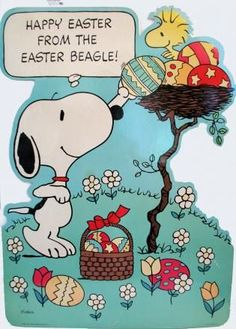 Laminated Giant Wall Decor - Easter Beagle: Snoopn4pnuts.com