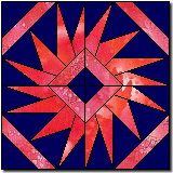 This is from Quilters Cache, which has an amazing selection of quilt blocks, each with full instructions.  Most are free for personal use, but only those blocks that are in the public domain can be used in quilts for sale.