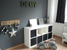 Stoere jongens kamer Baby Bedroom, Baby Boy Rooms, Kids Bedroom, Teenage Room, Kidsroom, Kids House, Room Inspiration, Home Decor, Ikea Expedit