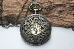 Hot vente l'arbre de vie collier montre de poche collier de charme avec alice bijoux chaîne dans Montres à gousset de Montres sur Aliexpress.com