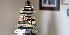 Guys, You Can Make a Christmas Tree out of Books via @PureWow