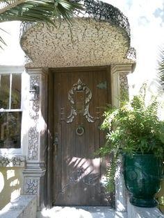 Painted door and surroundings by Donzine