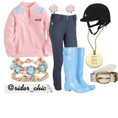 Pastels on a Lazy Sunday by rider-chic on Polyvore featuring Hunter, J.Crew, Roberto Coin, BaubleBar, Warehouse, Kiomi, Vineyard Vines and equestrian