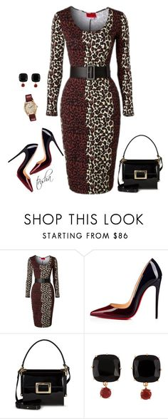 """""""Fall 2017"""" by pkoff ❤ liked on Polyvore featuring Pinup Couture, Christian Louboutin, Roger Vivier, Les Néréides and Citizen"""