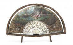 A French Ivory and Painted Leather Fan, Width of case : Lot 875
