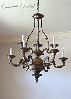 common ground : Faux Painted Chandelier...