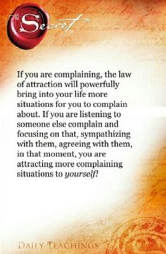 Rid yourself of complaints