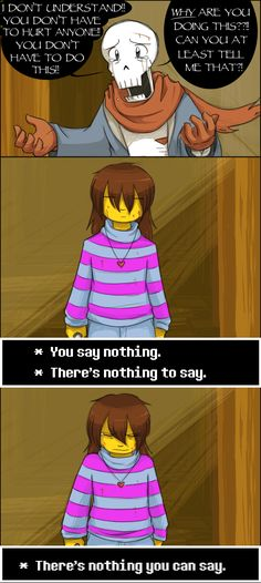 Undertale, Chara, Papyrus, Genocide, There's no answer by zarla