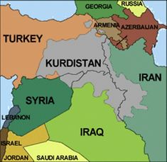 The Kurd population, probably numbering close to 16 million, inhabits the wide arc from eastern Turkey and the northwestern part of Syria through Soviet Azarbaijan and Iraq to the northwest of the Zagros Mountains in Iran. Kurdistan, Asia Map, The Kurds, Asian History, British History, Fantasy Map, Alternate History, Georgia, Historical Maps