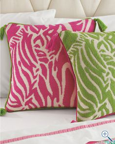 Lilly Pulitzer® Catching Z's Needlepoint Pillow Cover