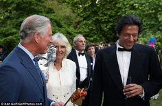 Well-connected: Prince Charles asked Imran Khan how he was getting on after his fall in Pakistan