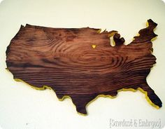 Diy State Or Country Plaque Tutorial {using A Scroll Saw