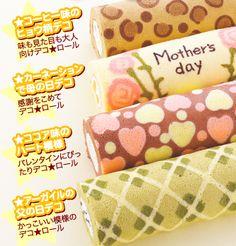 Japanese Roll Cakes A cada adição de cor, coloquem por 1 MINUTO no forno que já estará pré-aquecendo. Tirem, coloquem outra parte da decoração ( cor diferente ) e voltem para mais 1 MINUTO no forno e assim vai.