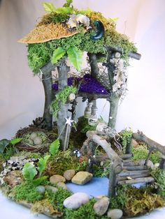 Minature Forest SceneThe Guardian. Fairy by TheSteamPunkCatSlave