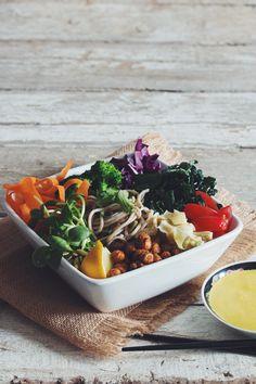 the buddha bowl with creamy miso tahini dressing #vegan | RECIPE on hotforfoodblog.com