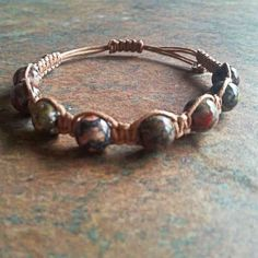 Leopardskin Jasper Healing Energy Bracelet ~ Leopardskin Jasper promotes self-healing, empowering, increases creativity, sensuality & sexuality and opens one to ancient wisdom and fosters dreams.