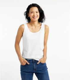 Find the best Women's Bean's Layering Tank at L. Our high quality Women's Shirts and Tops are thoughtfully designed and built to last season after season. Get Dressed, Sustainable Fashion, Amazing Women, Tank Tops, Tanks, Shirt Style, Sweaters For Women, Layers, Clothes For Women